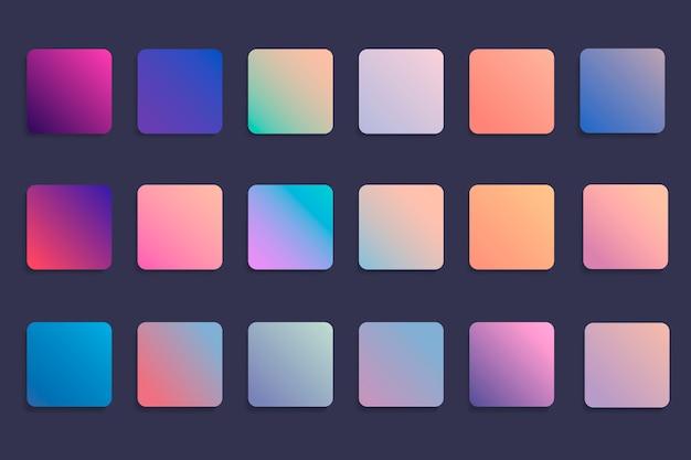 Conjunto de distintivo gradiente colorido