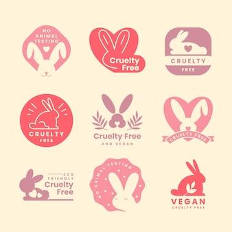 Conjunto de distintivos de ser contra a crueldade animal