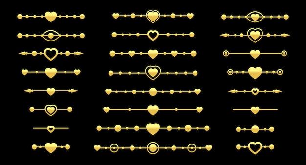 Conjunto de divisor de coração de ouro