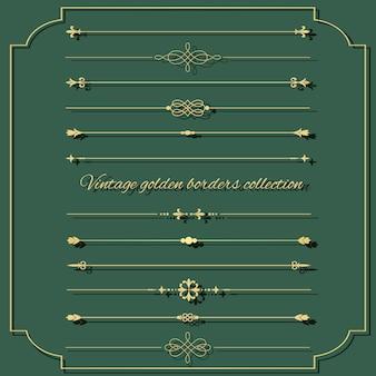 Conjunto de divisor vintage dourado.