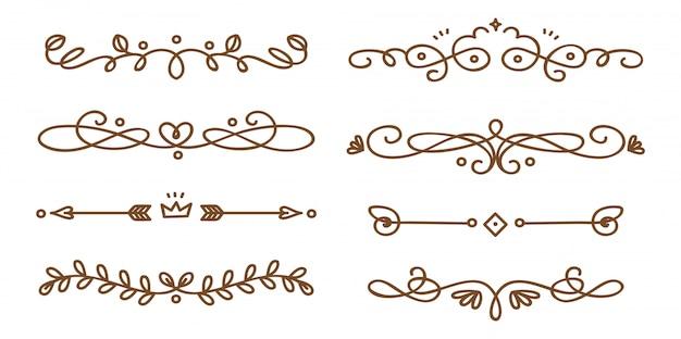 Conjunto de divisórias decorativas swirly