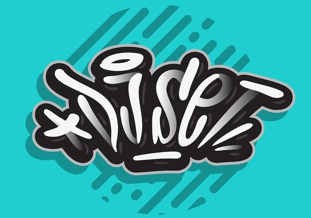 Conjunto de djs de concertos de música ao vivo para festas relacionadas com letras desenhadas à mão e letras de caligrafia