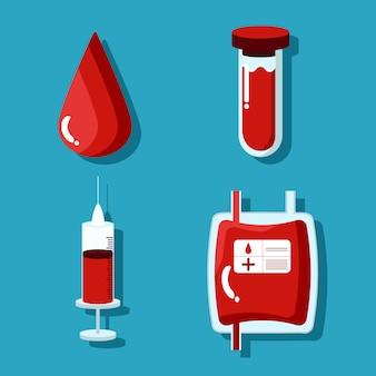 Conjunto de doação de sangue