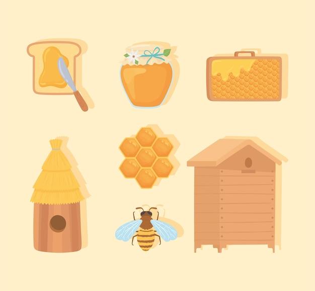 Conjunto de doces apícolas