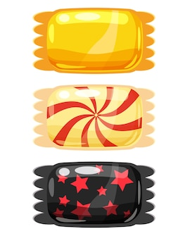 Conjunto de doces de cor doce