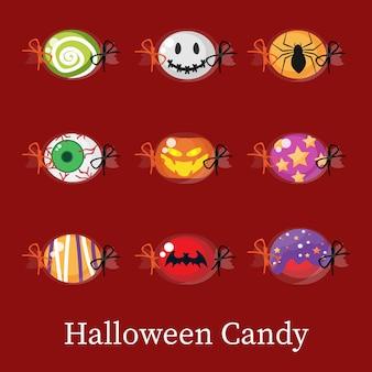 Conjunto de doces de halloween.