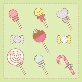 Conjunto de doces de kawaii