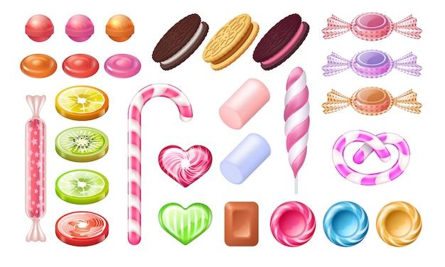 Conjunto de doces e pirulito