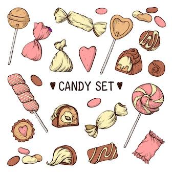 Conjunto de doces em branco