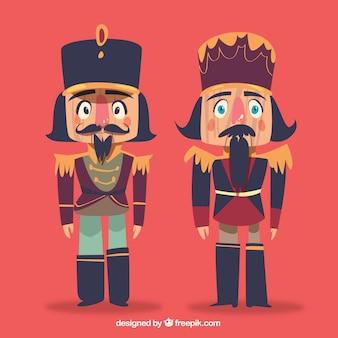 Conjunto de dois personagens de natal