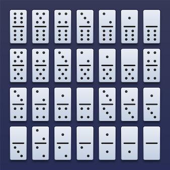 Conjunto de dominó realista