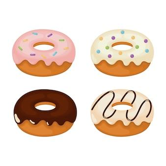 Conjunto de donuts kawaii