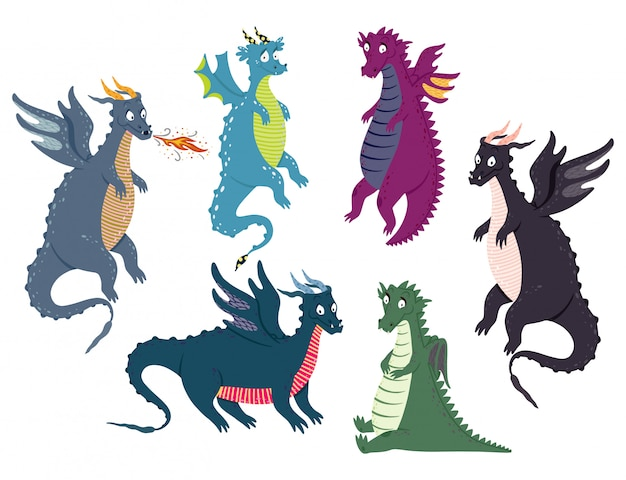 Conjunto de dragão bonito