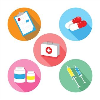 Conjunto de drogas de medicina ilustração