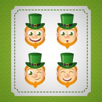 Conjunto de duende irlandês, dia de são patrício