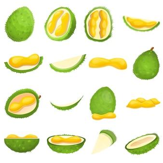 Conjunto de durian, estilo cartoon