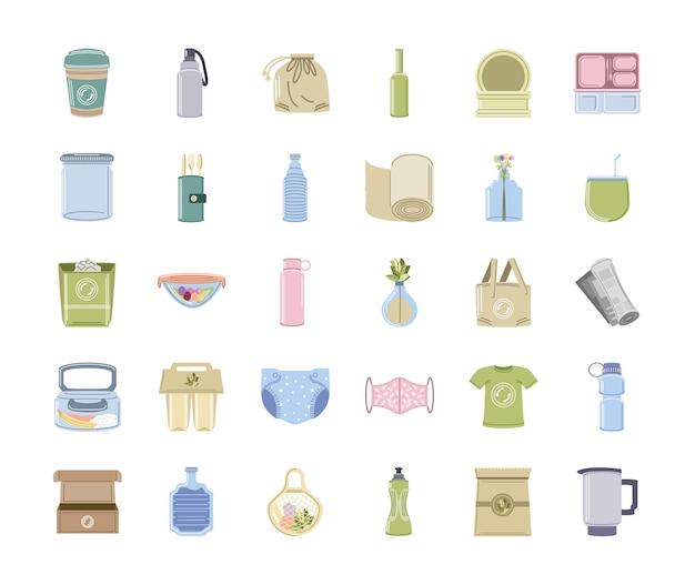 Conjunto de ecologia e reutilizável