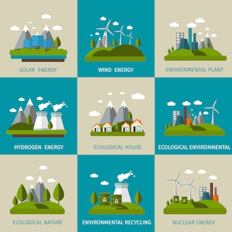 Conjunto de ecologia plana