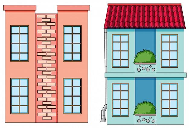 Conjunto de edifício plano
