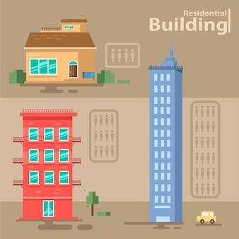 Conjunto de edifício residencial