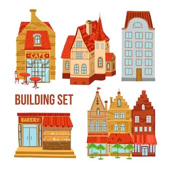 Conjunto de edifícios antigos da cidade