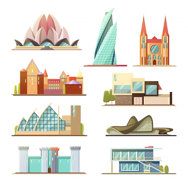 Conjunto de edifícios comerciais e residenciais