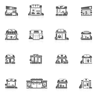 Conjunto de edifícios de loja