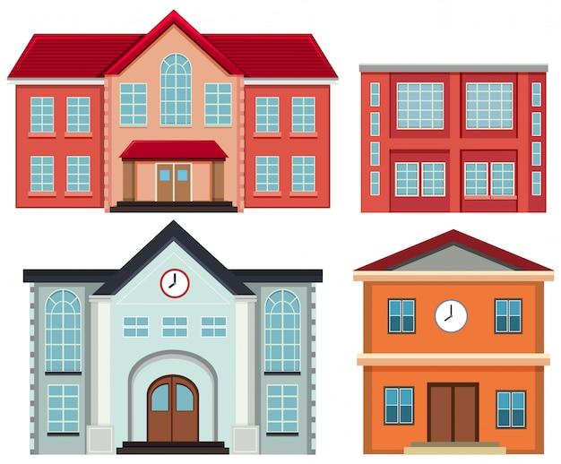Conjunto de edifícios exteriores