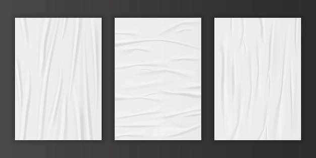 Conjunto de efeito de papel colado