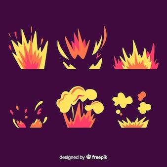 Conjunto de efeitos de explosão de bomba