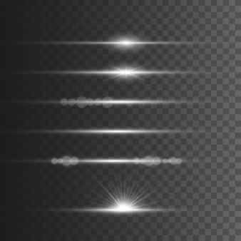 Conjunto de efeitos de luz brilhante