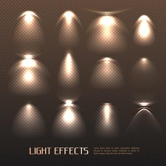 Conjunto de efeitos de luz