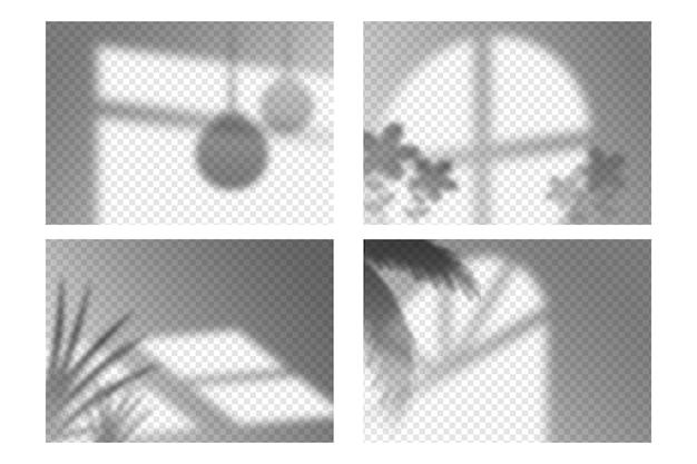 Conjunto de efeitos de sobreposição de sombras transparentes