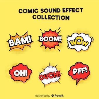 Conjunto de efeitos sonoros em quadrinhos