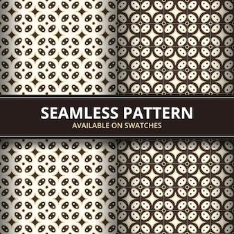 Conjunto de elegante tradicional batik javanês indonésia sem costura de fundo. papel de parede de tecido clássico. decoração étnica