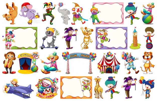 Conjunto de elemento de circo
