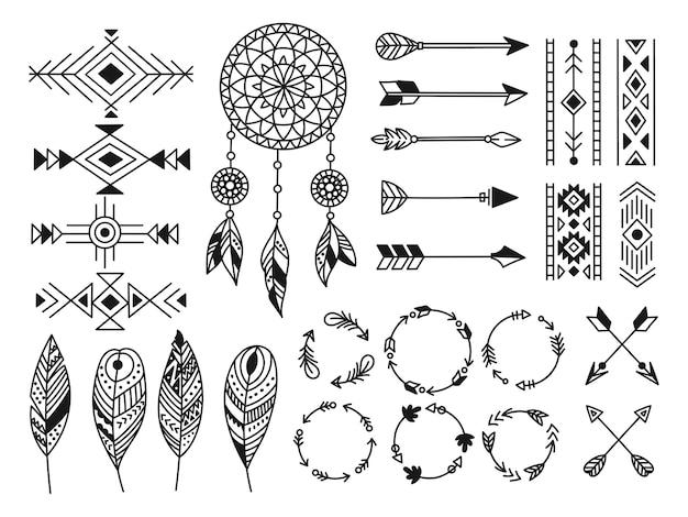 Conjunto de elemento de design tribal
