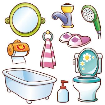 Conjunto de elemento do banheiro