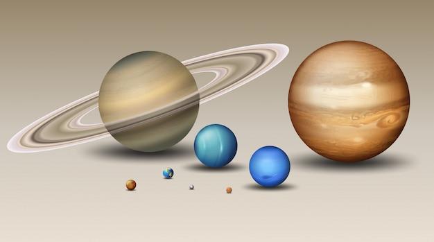 Conjunto de elemento do sistema solar