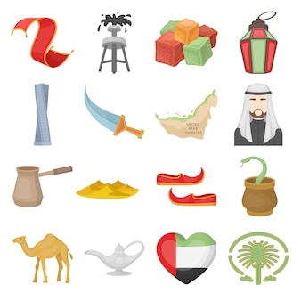 Conjunto de elementos árabes