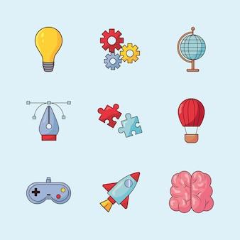 Conjunto de elementos criativos