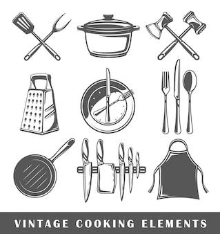 Conjunto de elementos da culinária
