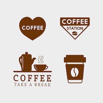 Conjunto de elementos de café e acessórios de café