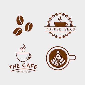 Conjunto de elementos de café e vetor de acessórios de café
