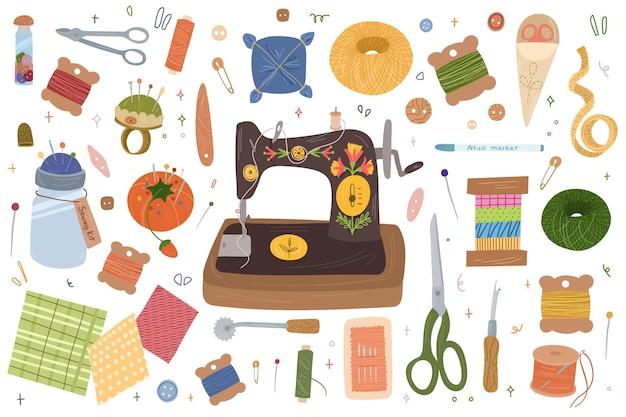 Conjunto de elementos de costura