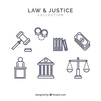 Conjunto de elementos de derecho e justicia