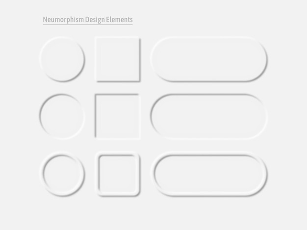 Conjunto de elementos de design de interface do usuário. interface simples e moderna para aplicativos.