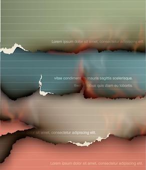 Conjunto de elementos de design transparente rasgado modelos de papel rasgado.