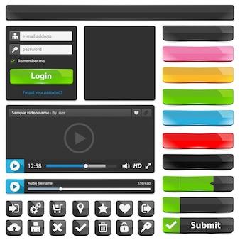 Conjunto de elementos de design web