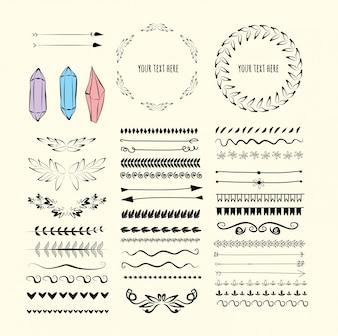 Conjunto de elementos de design